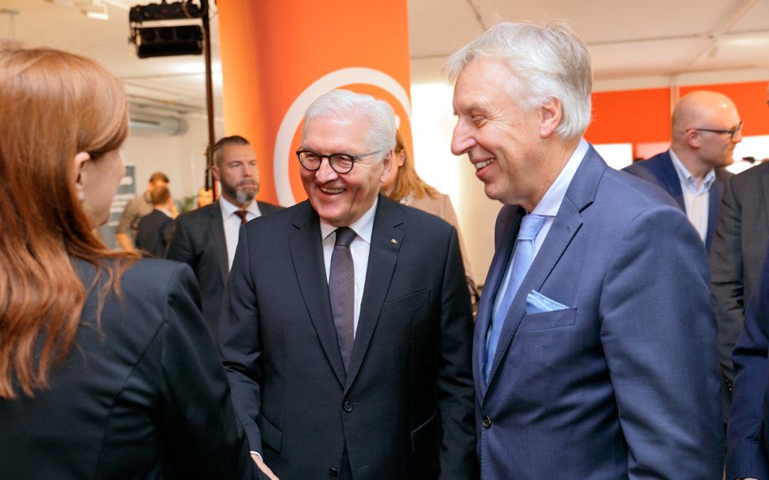 Frank Walter Steinmeier besucht startport.