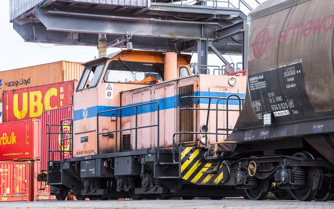 Die Lokführer im Hafen lieben ihren Job